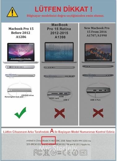 """Mcstorey MacBook Pro A1286 15.4"""" Kılıf Kapak Koruyucu Ruberized Hard Incase Mat Sarı"""